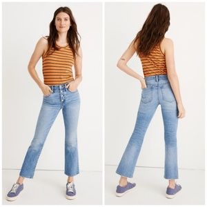 NWT Madewell Cali Demi Boot Cut Jeans Dory